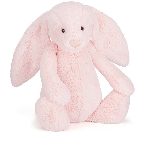 Jellycat Peluche Bashful Rose Lapin Grand 51cm