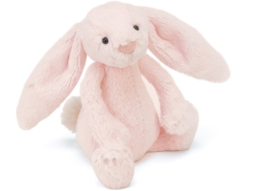 Jellycat Peluche Bashful Rose lapin Medium 31cm