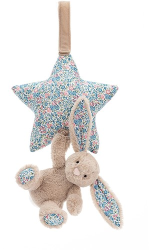 Jellycat Blossom Beige Lapine tirer musicale - 28cm