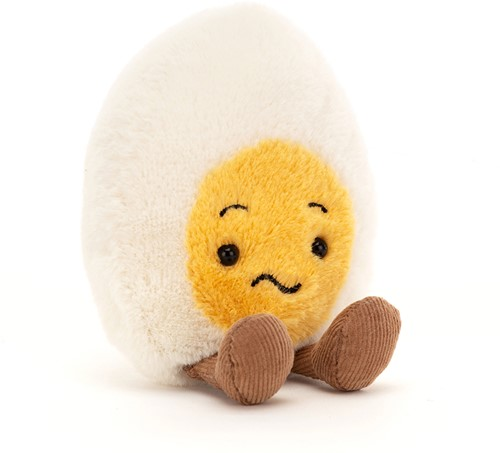 Jellycat Boiled Egg Confused - 14x8cm
