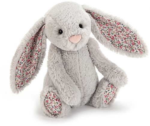 Jellycat peluche Blossom Silver Lapin petit 18cm